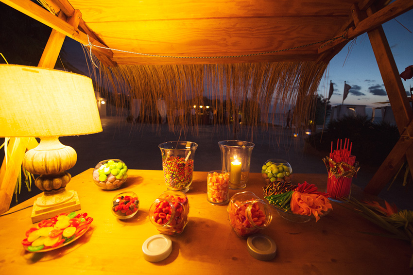 candy bar boda hawaiana mallorca